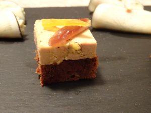 Bouchée de foie gras sur pain d'épices maison